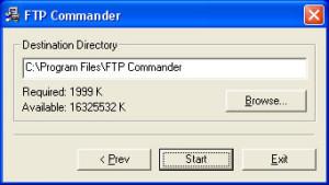 Upload a website using FTP Commander