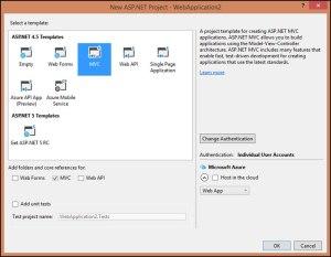 Create a simple MVC application
