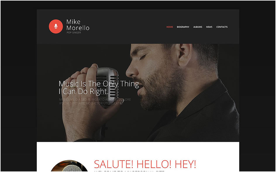 Singer's Portfolio Website Template