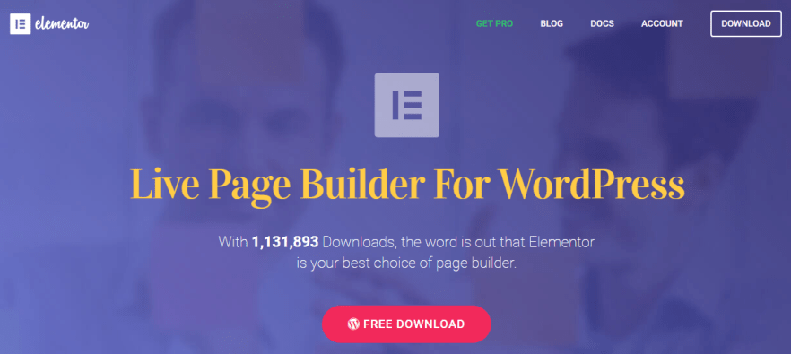 Live page builder