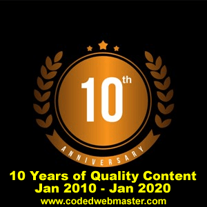10th-anniversary-codedwebmaster-com