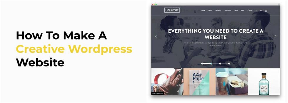 How To Make A Creative WordPress Website1