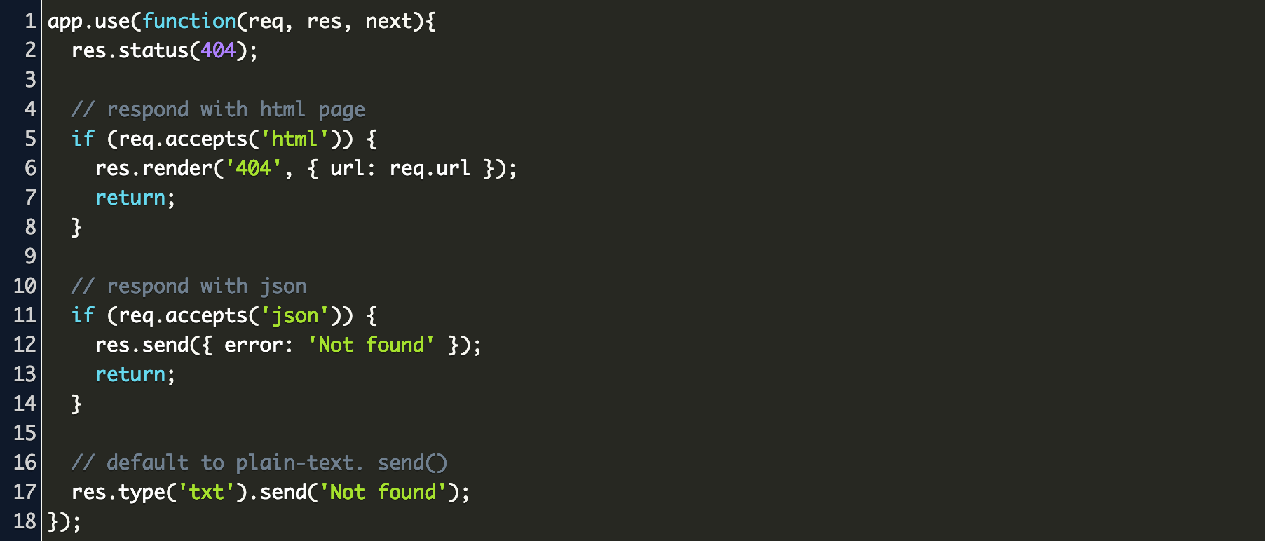 how to check 404 error in api response in expressjs Code Example