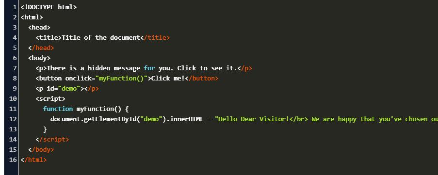 onclick w3schools Code Example