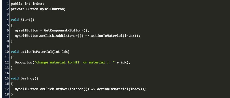 unity onclick addlistener Code Example