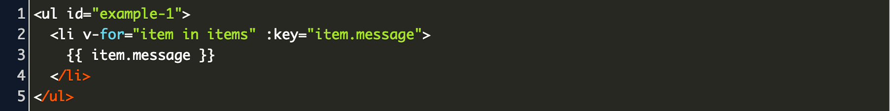 vuejs foreach Code Example