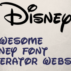 Disney font generator websites