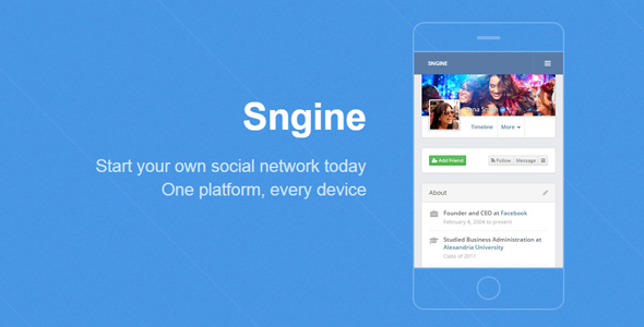 Sngine v2.5.4 – The Ultimate PHP Social Network Platform – nulled