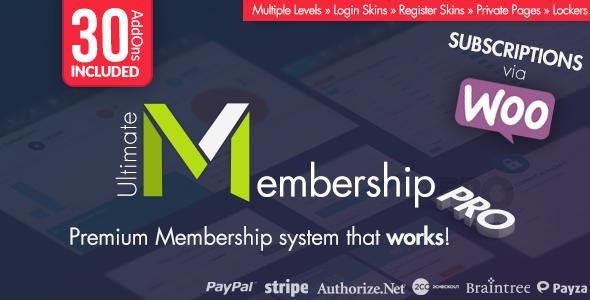 Ultimate Membership Pro WordPress Plugin v7.7