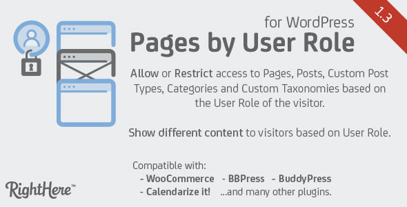 Pages by User Role for WordPress v1.3.5