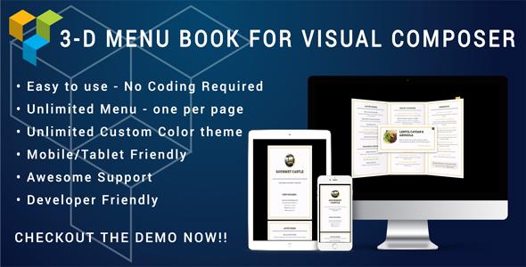 Visual Composer - 3D Menu Flyer for Restaurant and Cafe