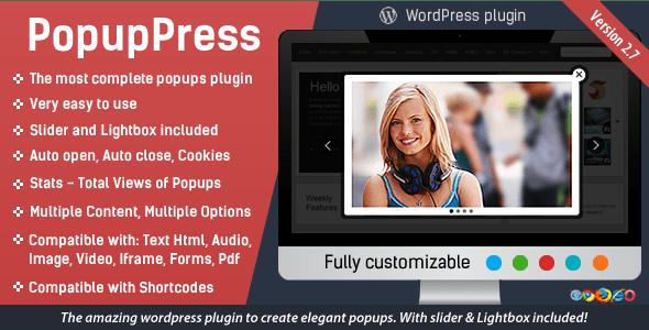 PopupPress v2.7 - Popups with Slider & Lightbox for WP