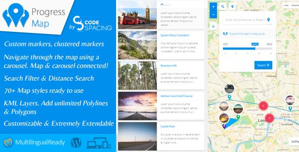 Progress Map WordPress Plugin v4.0