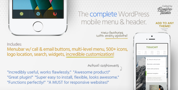 Touchy v3.4 – A WordPress mobile menu plugin
