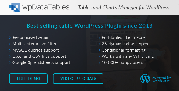 wpDataTables v2.3.1 - Tables and Charts Manager for WordPress