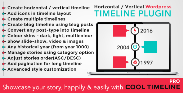Cool Timeline Pro v2.8.3 – WordPress Timeline Plugin
