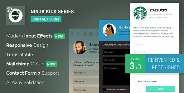 Ninja Kick: WordPress Contact Form v3.5.5