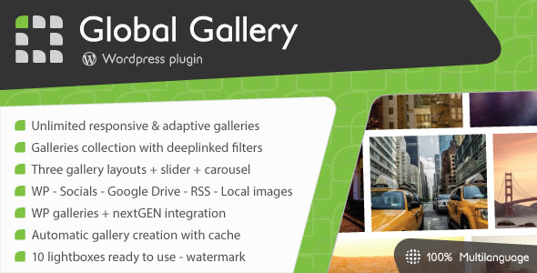 Global Gallery v5.511 - WordPress Responsive Gallery
