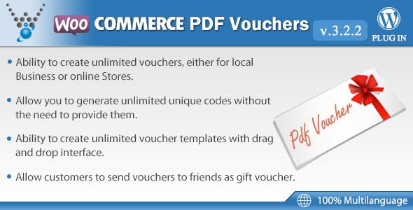 WooCommerce PDF Vouchers v3.2.2 - WordPress Plugin
