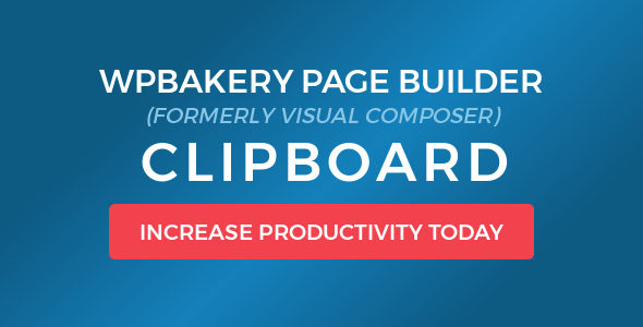 Visual Composer Clipboard v4.1.0