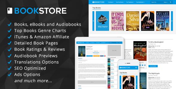 BookStore v1.3 – Books, eBooks and Audiobooks Affiliate Script