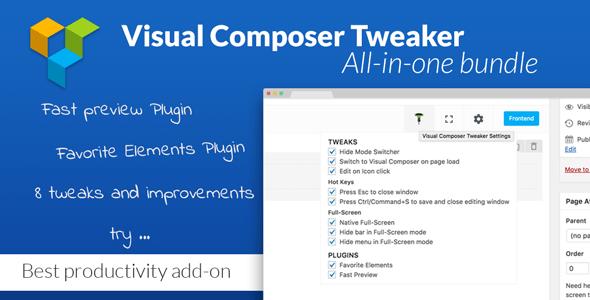VC Tweaker v1.4.0 – Visual Composer Productivity Add-on