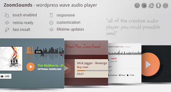 ZoomSounds v5.00 - WordPress Audio Player