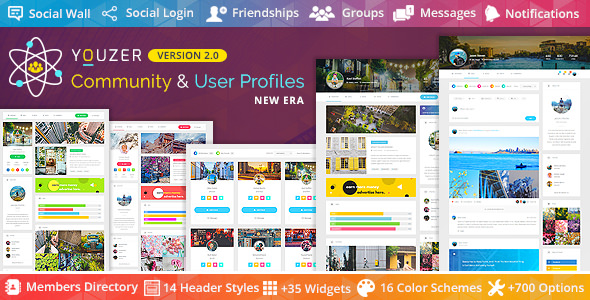 Youzer v2.1.9 – Buddypress Community & User Profiles