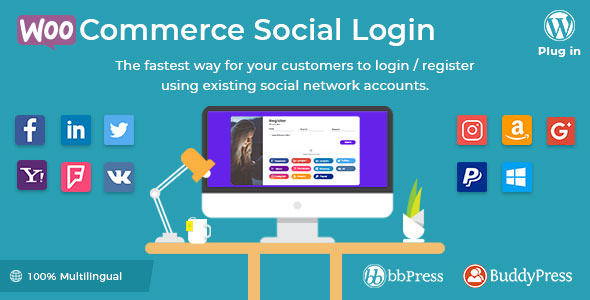 WooCommerce Social Login v1.9.1 – WordPress plugin