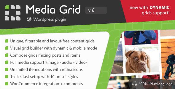 Media Grid v6.1.1.1 - WordPress Responsive Portfolio