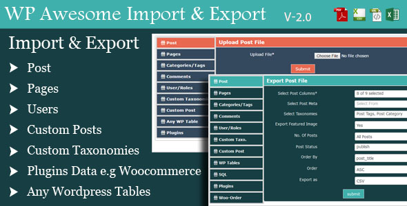 WordPress Awesome Import & Export Plugin v3.1.2