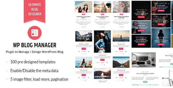 WP Blog Manager v1.1.3 – Plugin to Manage Design Blog