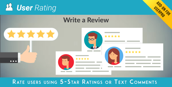 User Rating Review Add on for UserPro v3.8.2