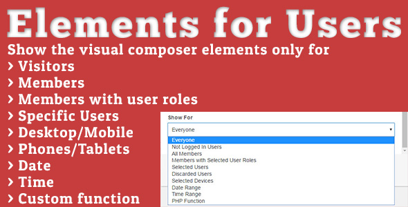 Elements for Users v1.5.2 – Addon for Visual Composer