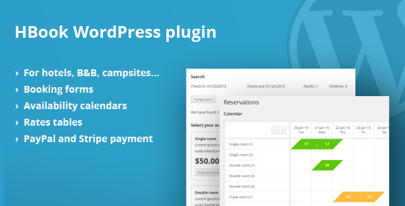 HBook v1.8.7 - Hotel booking system - WordPress Plugin