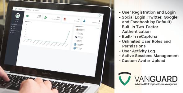 Vanguard v3.0.1 – Advanced PHP Login and User Management