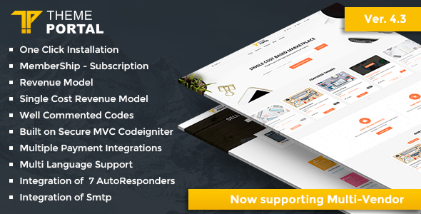 Theme Portal Marketplace v4.3 - Sell Digital Products ,Themes, Plugins, Scripts