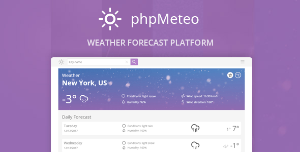 phpMeteo v2.0 - Weather Forecast Platform