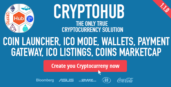 CryptoHub v1.2 - Coin Launcher, ICO System, MultiCrypto Wallets, Exchange, Payment Gateway