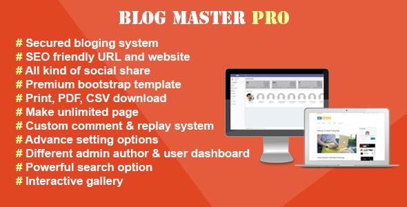 Blog Master Pro v1.2.0