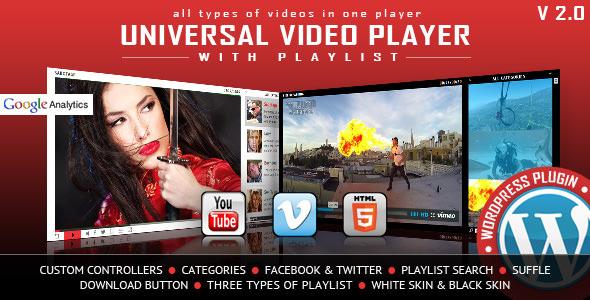 Universal Video Player v3.0 - WordPress Plugin