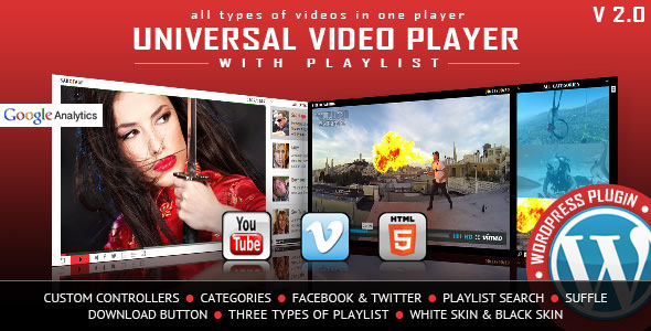 Universal Video Player v3.0 - WordPress Plugin