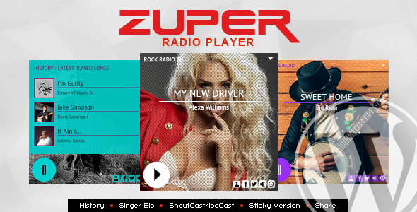 Zuper v2.1.2 – Shoutcast and Icecast Radio Player With History