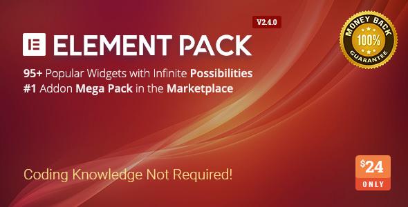 Element Pack v2.4.0 - Addon for Elementor Page Builder