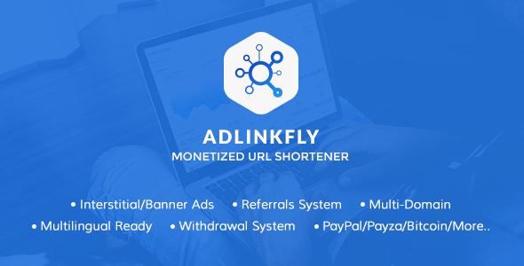 AdLinkFly v5.3.0 - Monetized URL Shortener