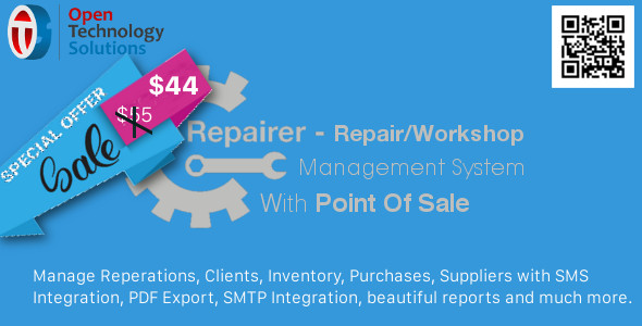 Repairer - Repair/Workshop Management System With Point Of Sale