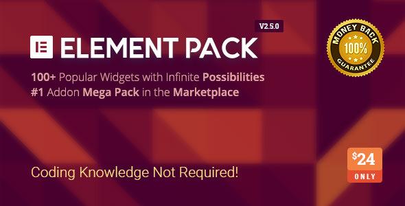Element Pack v2.5.0 - Addon for Elementor Page Builder