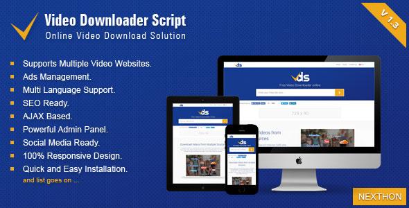 Video Downloader Script v1.3 - All In One Video Downloader