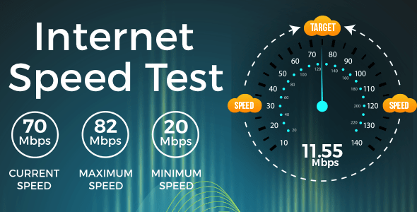Internet Speed Test Meter android app + Admob ad Integration + onesignal Integration