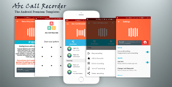 Abc Call Recorder v1.1 - Beautiful UI, Admob, Firebase Push Notification, Admin Panel